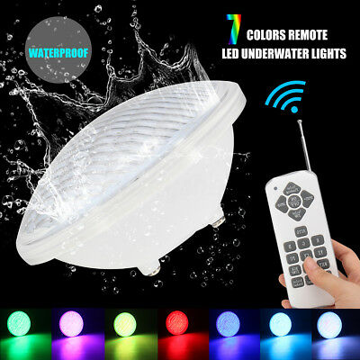 7 Colors AC 12V 18W Par56 IP68 RGB Underwater Lights Swimming Pool Remote LED