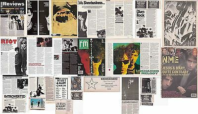 THE JESUS & MARY CHAIN : CUTTINGS COLLECTION -adverts interviews-