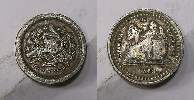 1879 Guatemala Silver Real Vf Sound--Look! Inv#307-13