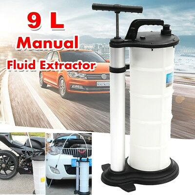 9L Vacuum Oil Fluid Suction Extractor Changer Manual Car Fuel Transfer Pump Tank