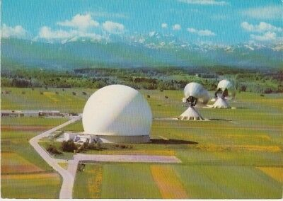 Germany (W)  - Earth Radio Station, Raisting (Post Card) 1960's
