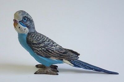 Antique Miniature Cold-Painted Bronze PARAKEET Bird Figurine Metal TESTED