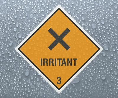 IRRITANT 3 - Dangerous Hazardous Substances printed self-adhesive sticker