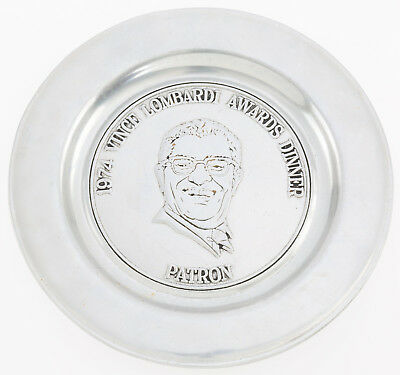 1974 Vince Lombardi Award Banquet Patron's Plate! Green Bay Packers!