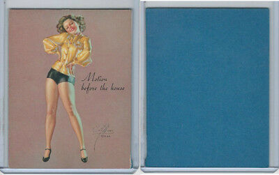 W424 Mutoscope Blotter Cut Pin Up Girls, 1940's, Motion Before The House