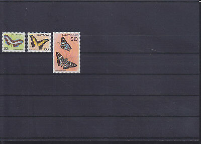 056237 Schmetterlinge Butterfly Guyana 573-75 ** MNH Year 1980