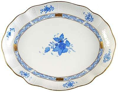 Herend CHINESE BOUQUET BLUE (AB) Oval Serving Platter S10391006G3
