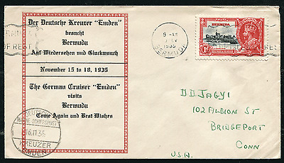 "BERMUDA: (15551) SJ/Germany/""Emden"" paquebot cancel/cover"