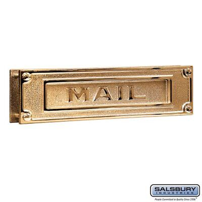Salsbury Industries 4075B Mail Slot Deluxe Solid Brass - Brass
