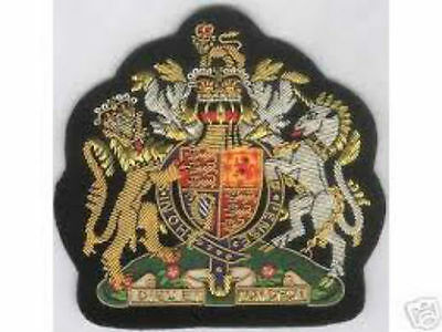 UK British Britain English Royal Uniform Patch Badge Empire Jacket King Queen HM