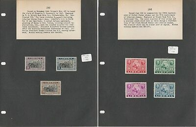 Liberia Collection Complete Mint Sets on 15 Pages, #341-346 ++
