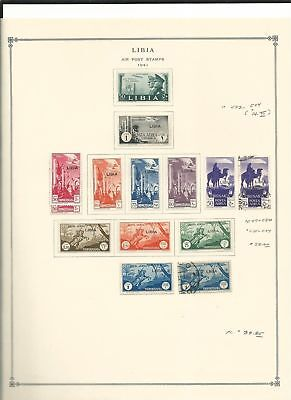 Libya Collection 1941 to 1976 on 12 Scott International Pages