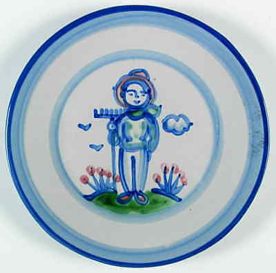 M A Hadley COUNTRY SCENE BLUE Farmer Luncheon Plate 5757476