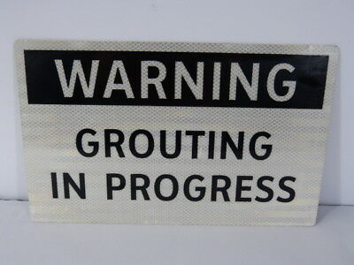 Generic 731350026 16 Inch x 10 Inch Grouting In Progress Sign ! NOP !