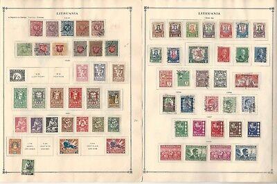 Lithuania Collection 1919 to 1940 on 6 Scott International Pages