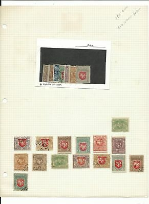 Lithuania Collection 1919 to 1940 on 5 Quad Pages, All Different