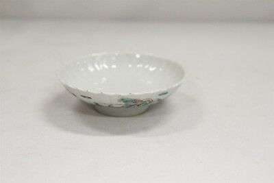 Old Chinese Porcelain 2 Men Holding Scroll Trees Sip Lid Bowl Signed