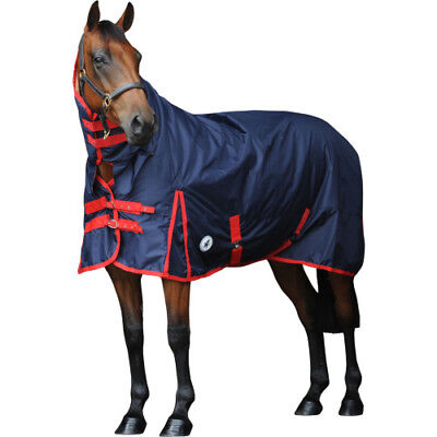 Derby House Classic Medium Combo Unisex Horse Rug Turnout - Navy All Sizes