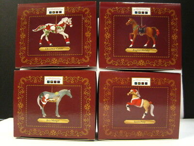 Trail of Painted Ponies 2014 CHRISTMAS HORSE ORNAMENTS set of 4, NIB