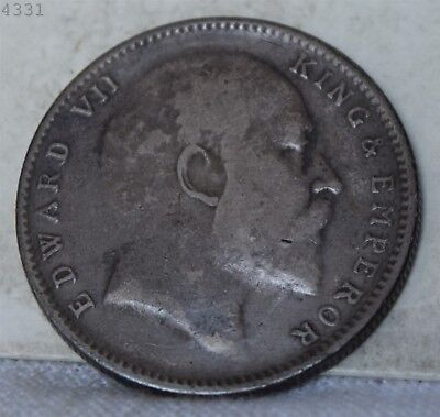 1907 *Silver* India 1 Rupee *Free S/H After 1st Item*