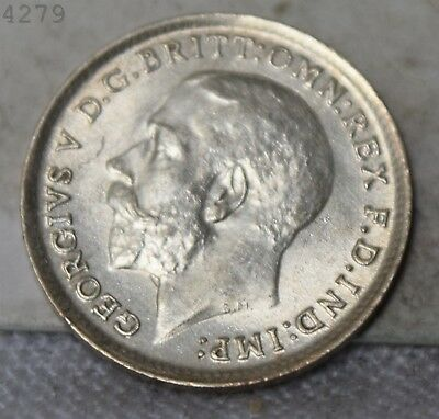 "1912 *Silver* Great Britain 3 Pence ""AU/UNC"" *Free S/H After 1st Item*"