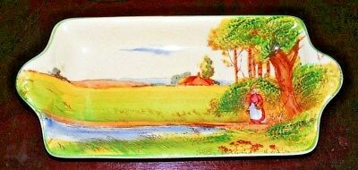 ROYAL DOULTON - The Gypsies - Old English Scenes D4983 - Sandwich Tray - c1930s