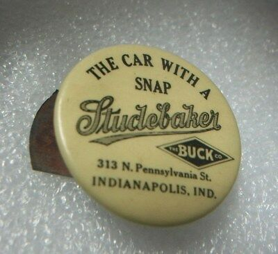 """1913 Studebaker """"The Car With Snap"""" Clicker Advertising Whitehead & Hoag Antique"""