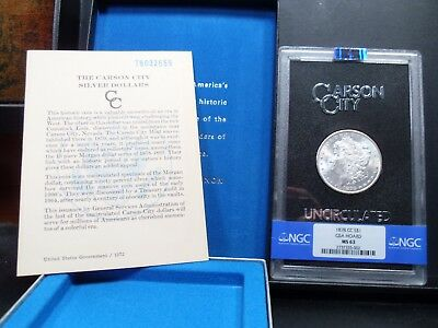 1878-CC MS63 GSA Hoard Morgan Silver Dollar NGC Certified Bright White - Box/COA