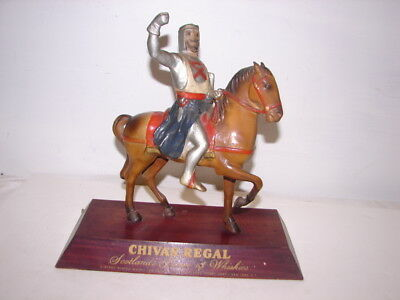 vintage Chivas Regal Whiskey Advertising Knight Back Bar display sign figure