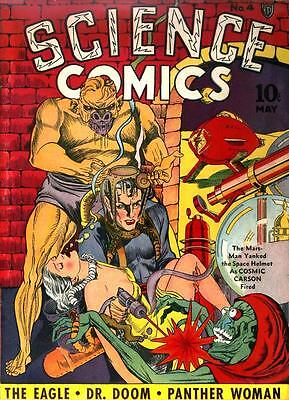 Science Comics #4 Photocopy Comic Book, Dr. Doom, The Eagle (Blank inside FC)