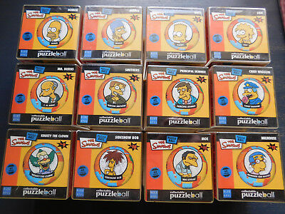 THE SIMPSONS Collectible PUZZLEBALLS - All 12 numbered 1-12 - 60 pieces