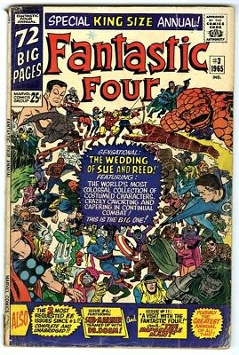 Fantastic Four Annual #3 (1965) G- New Original Owner Marvel Comics Collection