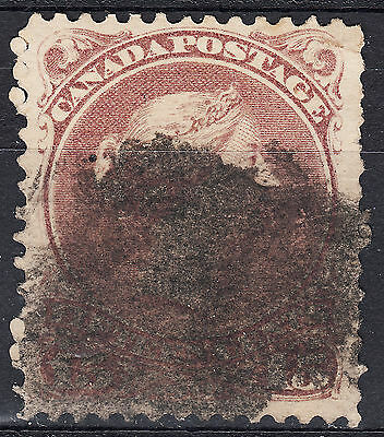 Canada 15c Large Queen red lilac, Scott 29b, F-VF used, catalogue - $115