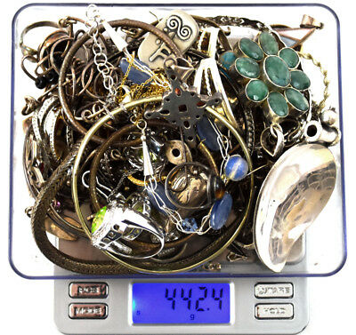 442.4 Grams Sterling Silver .925 - Scrap and Wearable Lot A
