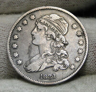 1831 Capped Bust Quarter 25 Cents -  Nice Coin, Free Shipping. (6530)