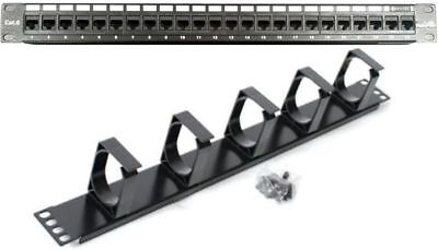"""24/48 Port 19"""" Patch Panel CAT6 Network/Cable Manager 1U/1RU *AUSSIE SUPPLIER*"""