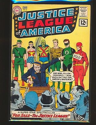 Justice League of America # 8 Good+ Cond. subscription crease