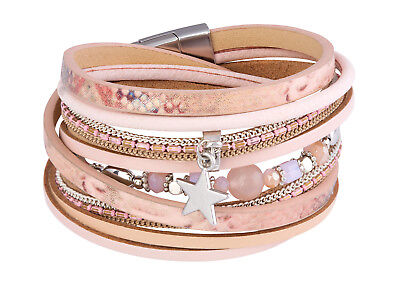 Tamaris Josie Leather Bracelet Armband Accessoire Rose Gold Beige