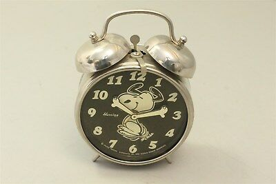 """Peanuts SNOOPY BLESSING 4"""" Alarm Clock- 1970 - For Parts OR Repair"""