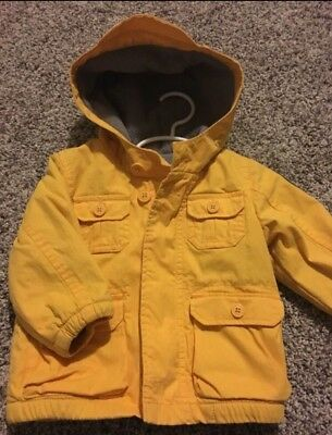 Baby GAP Yellow Jacket Coat Size 12-18 months