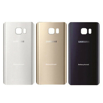 Genuine For Samsung Galaxy Note5 Original Rear Back Battery Cover Glass Panel