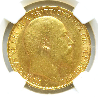 KING EDWARD THE VII 1902 £2 GOLD SOVEREIGN Mint State 61