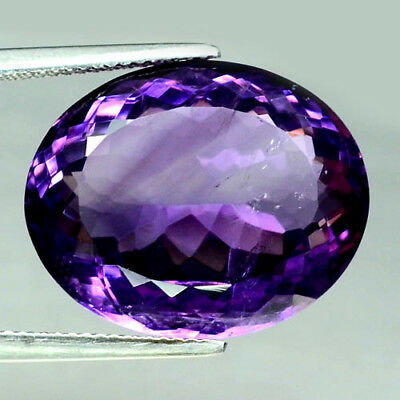 22.98 Ct Natural! Purple Clr Change To Pink Brazilian Amethyst Oval