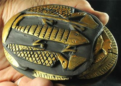 LARGE EGYPTIAN SERPENT SCARAB ancient replica