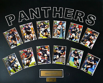 Penrith Panthers limited edition player cards 1/500 unframed rugby NRL, cert