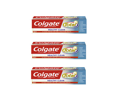 3 x Colgate Total Healthy Clean Toothpaste 75ml multibuy