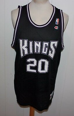 VINTAGE CHAMPION No 20 JON BARRY SACRAMENTO KINGS TRIKOT NBA GR XL US 48