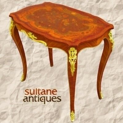 Elegantly ornate Victorian style coffee side table