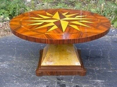 Superb 59 INCHES star marquetry Center Dining table