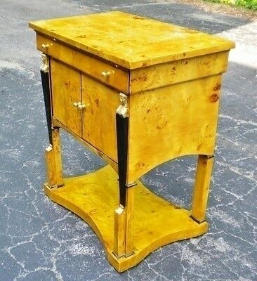 Gorgeous Blonde Elm wood Biedermeier Commode cabinet